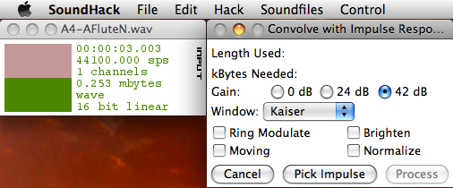 SoundHack user interface.